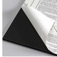Foamboard 5 mm, black one-side self-adhesive