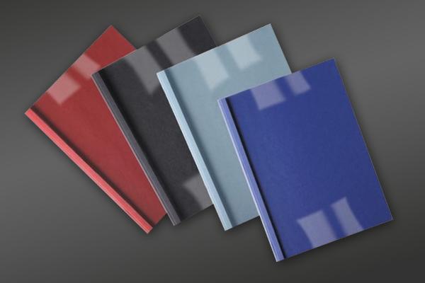 Thermal binding covers and slide binders