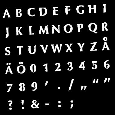 Master Fontset 270 pcs - fonts 5.5mm