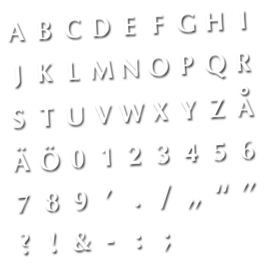 Fontset 35 pcs - fonts 4mm